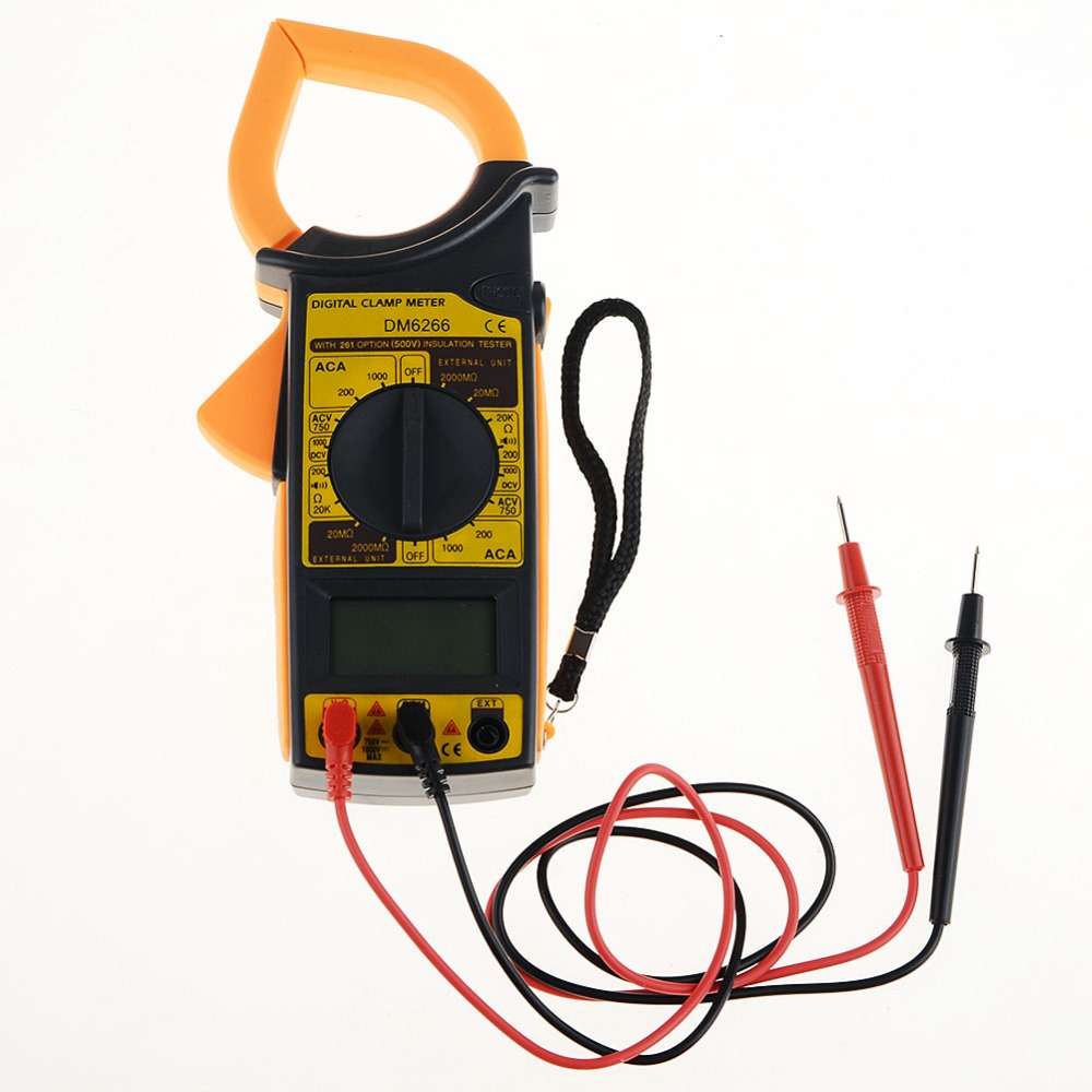Clamp Multimeter High Quality Mini Digital LCD  Voltmeter Ammeter Ohmmeter Volt Tester VEJ62 T0