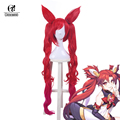 ROLECOS Game Character LOL Cosplay Headwear Jinx Cosplay 100cm/39.37inches Guardian Magical Girl Jinx Cosplay Synthetic Hair