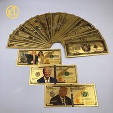23 шт./лот, американский USD президент, денежный набор, Президент Трамп, позолоченная Банкнота с золотым покрытием, поддельные деньги для миров...