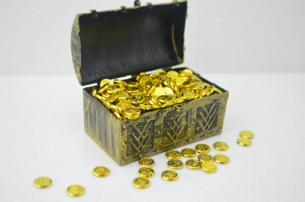 "1:6 Scale Treasure Box Gold Coins Model Mini Doll Toys 12/"" Action Figure Gift"