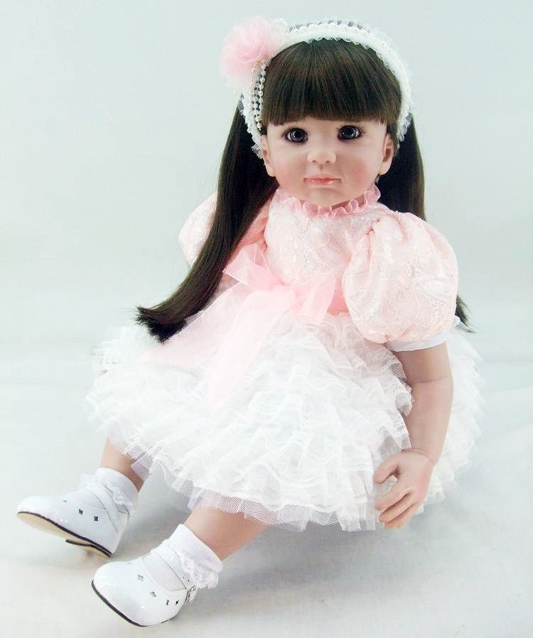 Silicone Reborn Baby Doll Toys Lifelike 60cm Princess Sweet Long Hair Toddler Babies Lovely Birthday Present Limited Collection Silicone Reborn Baby Doll Toys Lifelike 60cm Princess Sweet Long Hair Toddler Babies Lovely Birthday Present Limited Collection