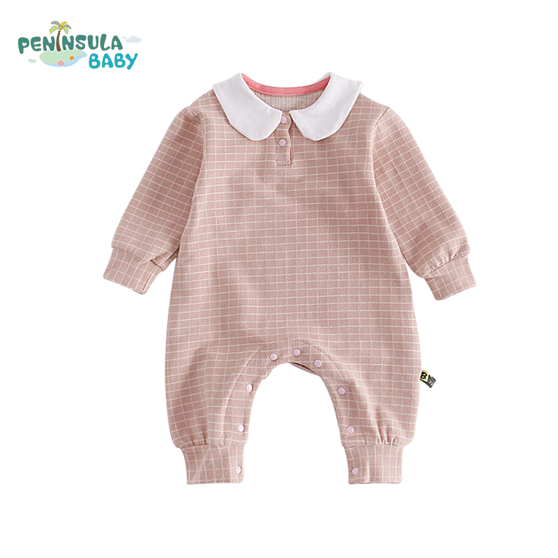 Interesting Cute Kids Body Suit Plaid Back Cartoon Baby Boys Rompers Jumpsuit Long Sleeve Cotton Autumn Spring Girls Clothing cotton baby rompers set newborn clothes baby clothing boys girls cartoon jumpsuits long sleeve overalls coveralls autumn winter