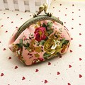 AEQUEEN Women Coin Wallet Lady Coins Bag Canvas Small Wallet Elegant Lace Flower Purses Metal Hasp Mini Purse Money Card Holder