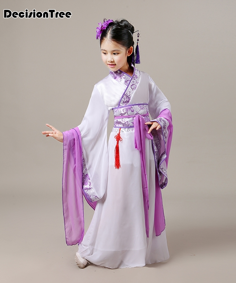2019 new chinese dance costumes children traditional chinese dance costume girls traditional ancient chinese clothing han in Dresses from Mother Kids