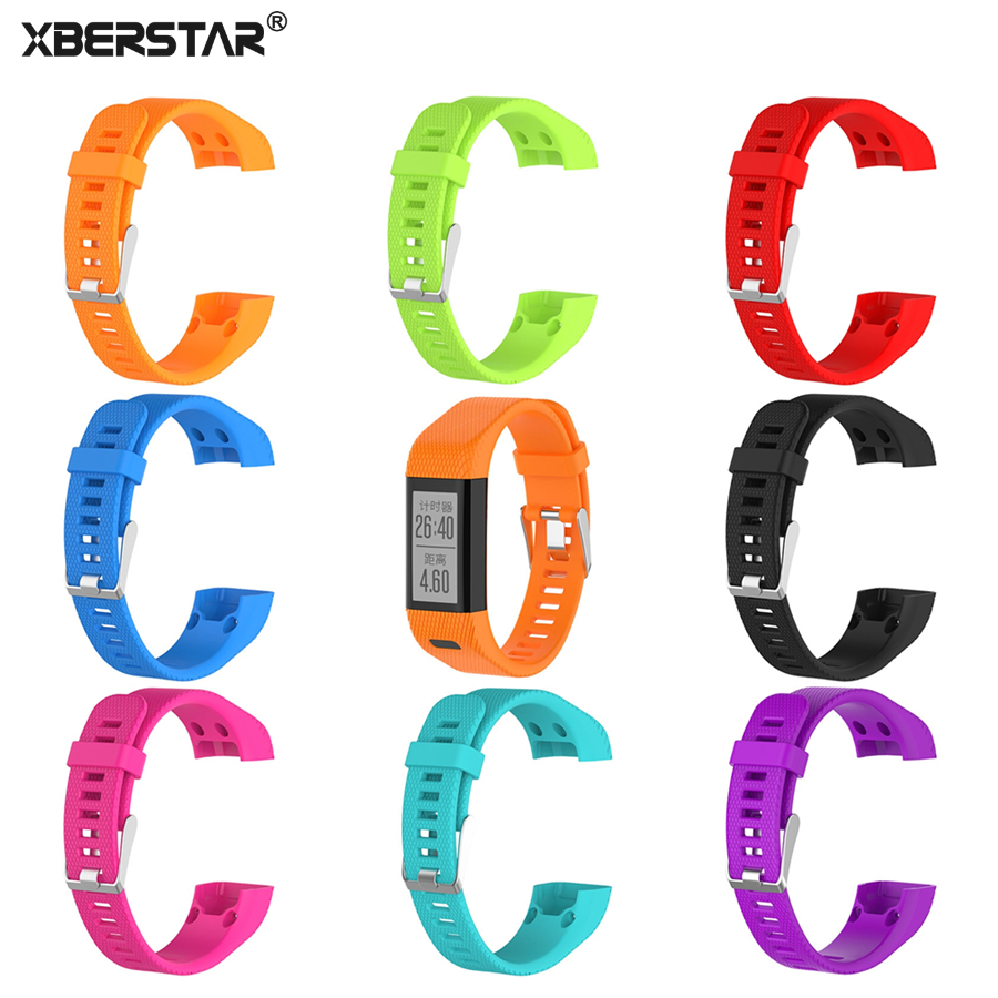 все цены на XBERSTAR Watchband Strap for Garmin Vivosmart HR PLUS HR+ with Tools Sports Silicone Watch Band Strap Bracelet Wristband онлайн