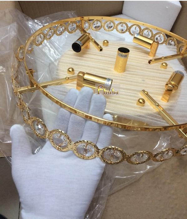 Gold Kristall Decken Leuchte Moderne Decken Licht Chrom Decke Licht Beleuchtung Lampe Garantiert 100% + Kostenloser versand!