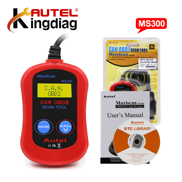 A+ quality Autel MaxiScan MS300 Auto obd2/eobd Code Reader Scanner Data Tester Diagnostic Tool same as AL301