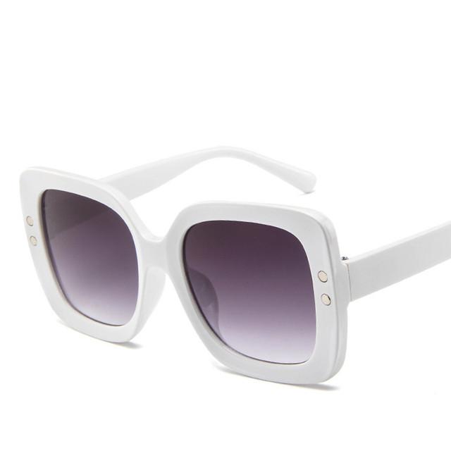 Oversized Sunglasses Women Luxury Transparent Gradient Sun Glasses Big Frame Vintage Eyewear UV400 Glasses for Lady