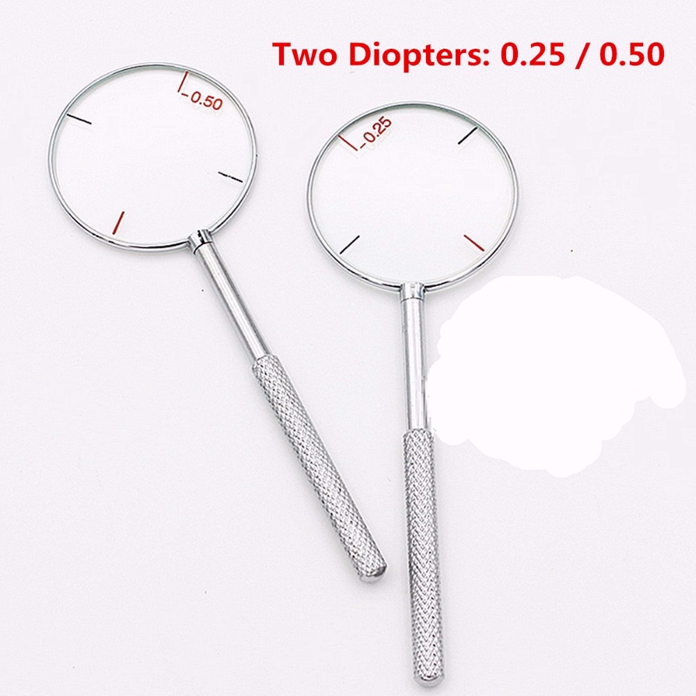 1Pcs Round Optical Cross Cylinder Lens Tool Optical Instruments Diopters 0.25/0.5