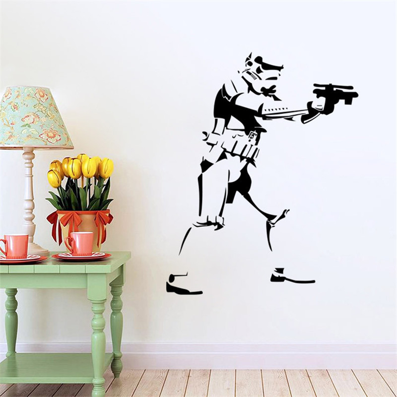 new style handmade diy graphic vinyl wall sticker figure from star