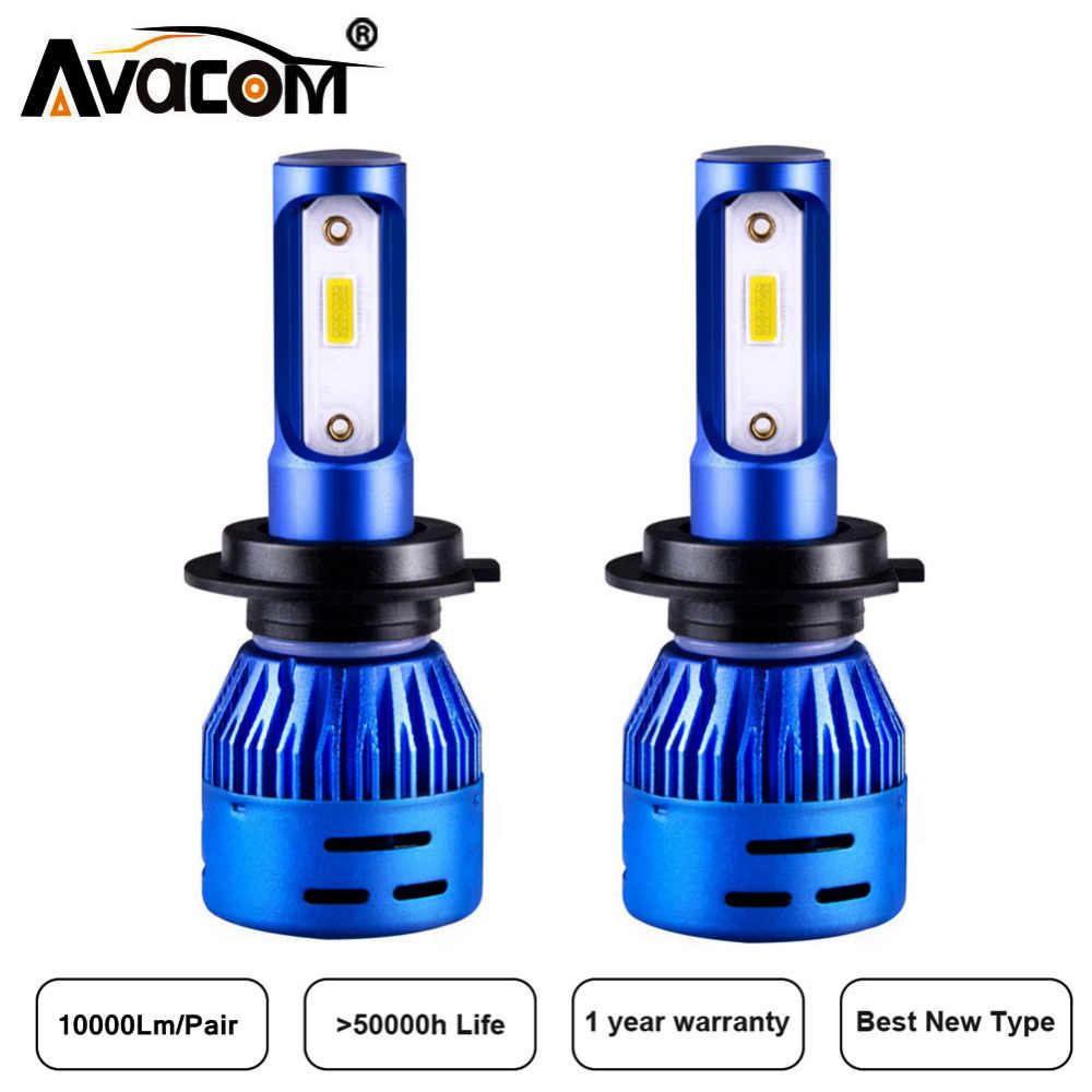 Avacom 2 Pcs LED H1 H8 H11 H4 Car Headlight 6500K DOB Chip 10000Lm LED H7 12V 24V Auto Day Light 9005 HB3 9006 HB4 Car Fog Lamp