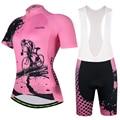 Aogda летний женский комплект Джерси для велоспорта быстросохнущая MTB велосипедная Одежда дышащая Mountian велосипедная одежда Ropa Ciclismo