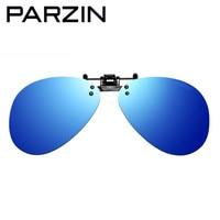 Parzin Polarized Clip on Sunglasses clip on glasses square Polaroid Lens Men Women mirror clip Sun Glasses