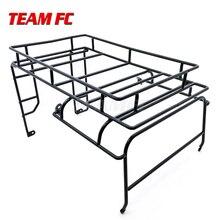 Metalowy dach Rack bagażnik dla 1/10 zdalnie sterowany samochód gąsienicowy RC4WD D90 powłoki ciała części S343