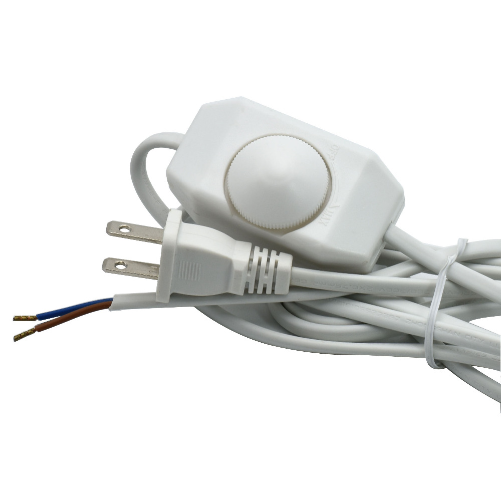 ヾ(^▽^)ノ110V 2*0.75mm2 Lamp Dimmer Switch Cable US Plug VDE ...