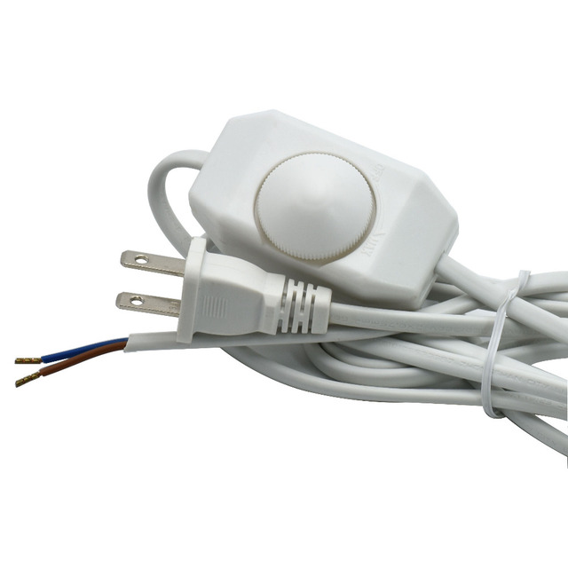 110V 2*0.75mm2 Lamp Dimmer Switch Cable US Plug VDE Electrical Cable Table  Lamp