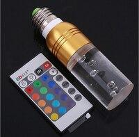 Nowy przyjazd lampa LED RGB 10 sztuk/partia 3 W Żarówka LED RGB E27 85-265 V z Pilotem wielu kolor oświetlenia LED