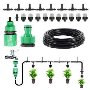 Image 2 - 10 m 20 pcs Mist Sprinkler หัวฉีด Water Misting ระบบทำความเย็นสวนกลางแจ้ง Patio พืชเรือนกระจกสเปรย์ท่อรดน้ำ Kit