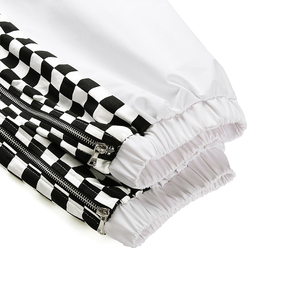 Image 5 - Женские брюки Weekeep с завышенной талией, белые клетчатые брюки карандаш в стиле пэчворк, в уличном стиле, с эластичным поясом