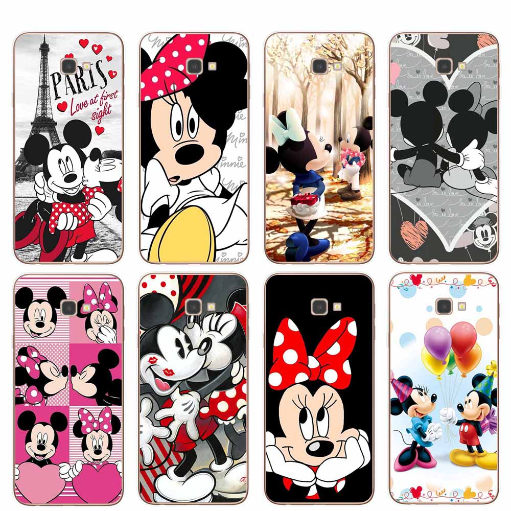 Cute Cartoon Minnie Phone Cases For Coque Samsung J3 J5 J7 2016 2017 J4 J6 Plus 2018 Note 8 9 10 Pro Soft TPU Cover Funda Shell
