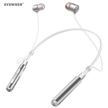Evewher Magnetic Headset Sport Bluetooth Earphone Wireless Stereo Headset Magnetic Earphone with Mic for xiaomi for iphone(China)