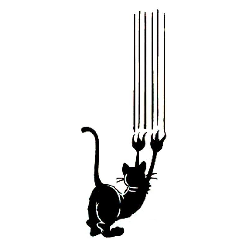 7.3cm*20cm Cat Scratches Funny Cute Vinyl Car Sticker Fashion Cartoon Decal S6-3228