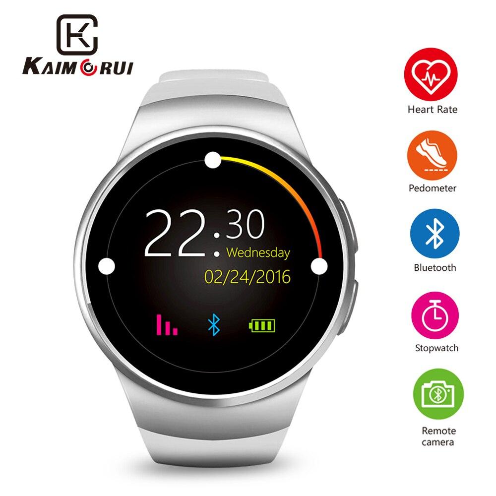 7aefbc19a74f9c Skup Tanie Kaimorui Inteligentny Zegarek Krokomierz Tętna Tracker Smartwatch  Mężczyźni Bluetooth Inteligentne Zegarki z Karty SIM dla IOS Android Cena