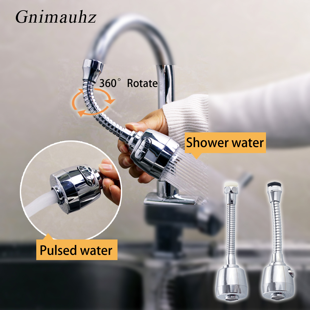 360 Degree Flexible Rotate Faucet Nozzle,Kitchen Sink Taps Head Water Saving  Sprayer