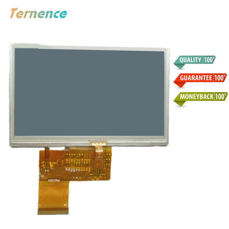 Skylarpu 4.3 Inch Complete LCD MP5 GPS TFT LCD Inside Display Screen KD43G18-40NB-A1 KD43G18-40NB-A5 C430P T43P12 Free Shipping
