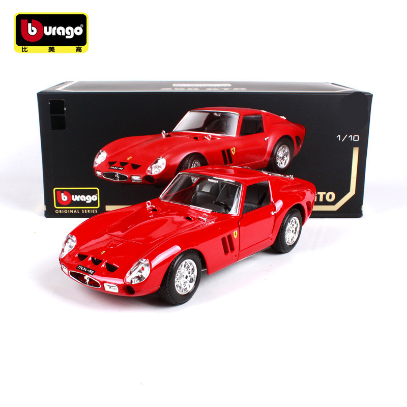 1 18 Simulation Metal sports car model toy For Ferraried 250 GTO with Steering wheel control