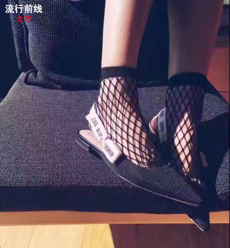 ФОТО The spring of 2017 new fashion bow shoes with elastic pointed flat runway Baotou women sandals