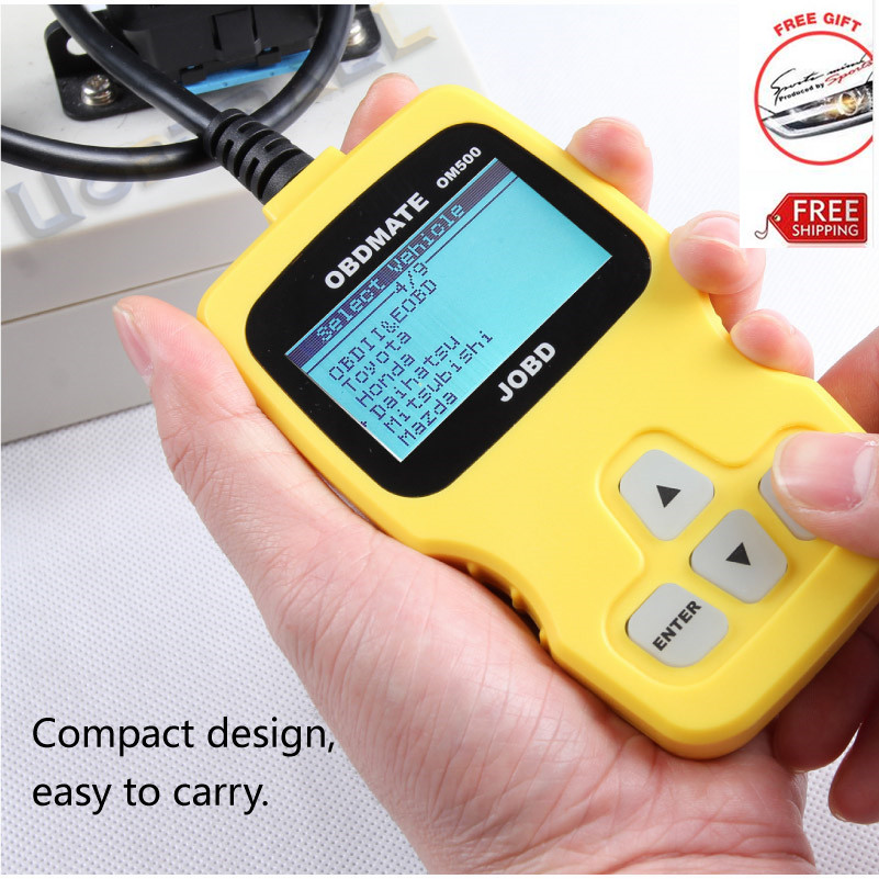 Original AUTOPHIX OBDMATE OM500 JOBD OBDII EOBD Code Reader Scanner Automotive Escaner For All Japan Cars