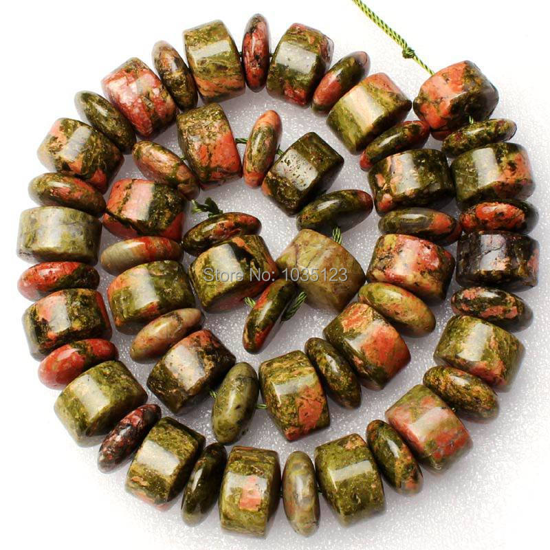 Free Shipping 5x14mm Coin And 9x14mm Column Shape Mixed Zoisite Stone Loose Beads Strand 15 DIY Creative Jewellery Making w2017