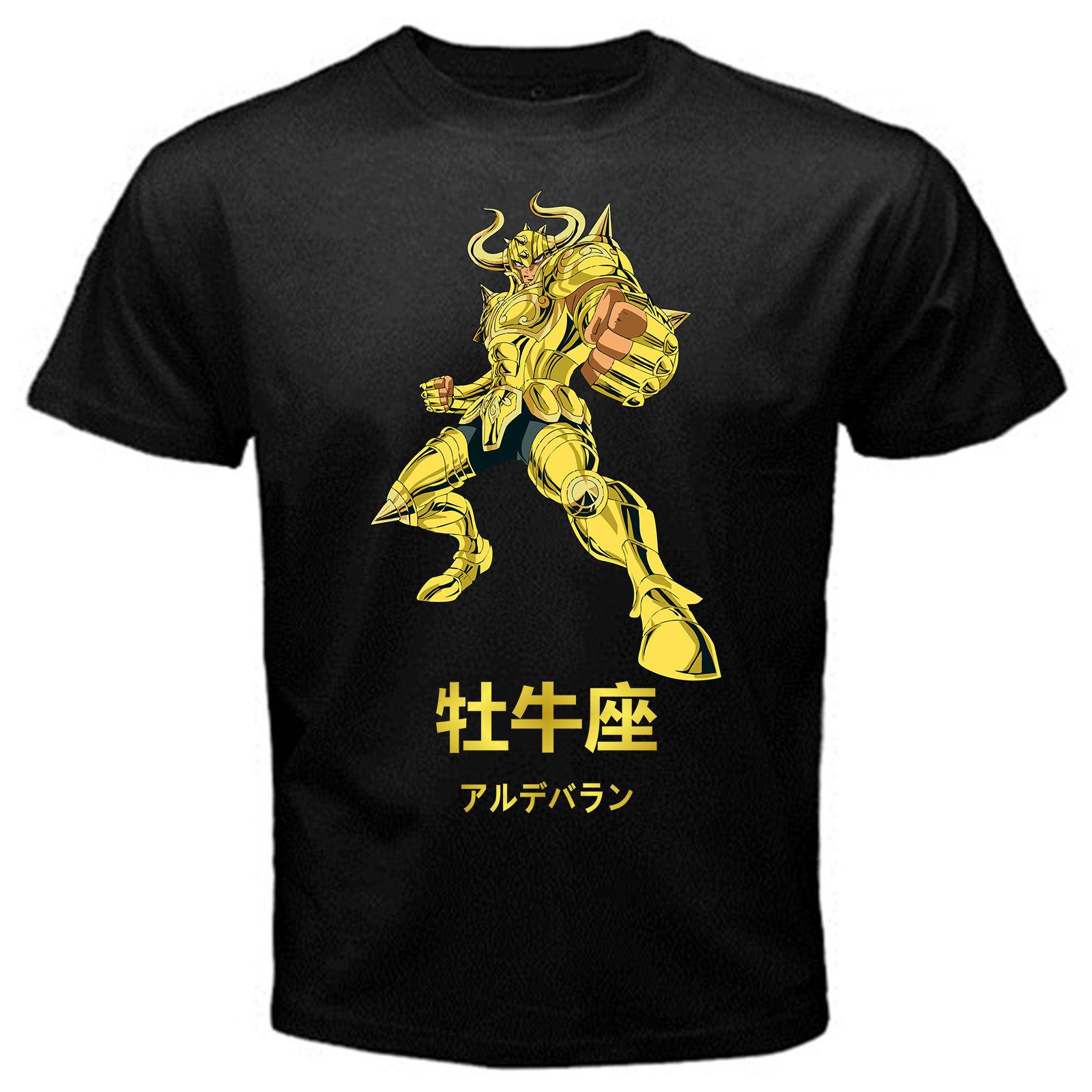 Saint Seiya Taurus 3 Anime Manga Serie Japan T-shirt Schwarz Basic ...