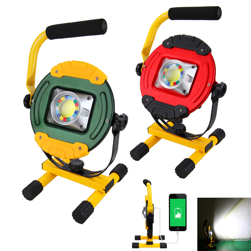 Craftsman 30 Led Rechargeable Stick Light Work Lights: 30W COB LED Portable Work Light USB Rechargeable 18650