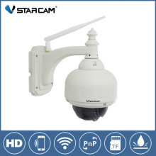 Vstarcam C7833WIP P2P Plug and Play Outdoor PTZ Wireless/WiFi 1MP HD 720P IP Camera Security with Pan/Tilt SD Card IR Cut