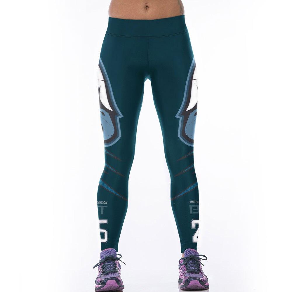 JESSINGSHOW Hot American Football Team Eagles Pants Leggings Leggins 3D Printed Running Jeggings Sports Fitness Jogging Clothes