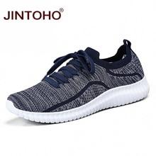 JINTOHO été maille unisexe chaussures marque hommes baskets décontracté hommes mode chaussures pas cher mâle coréen baskets Zapatillas Hombre décontracté