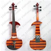 Новый 4/4 Электрический Скрипки молчат замечательный тон Любой цвет черный желтый красный ect ..