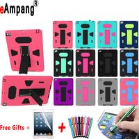 For Apple IPad Air 2 Case Silicon Kids Safe Shockproof Combination Cases For IPad Air