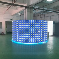 1SQM RGB P3.91 indoor Curved Led Screen With 500x500mm Led Panels Led Video Wall For Church Events