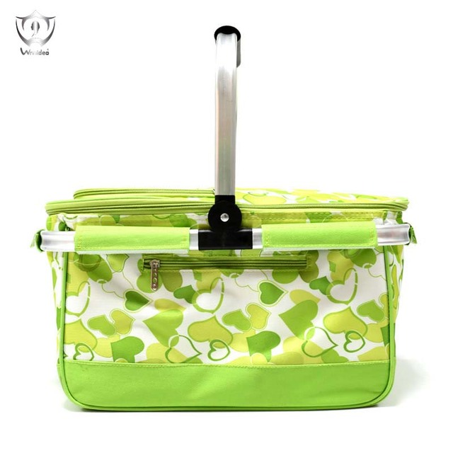 Insulated Picnic Basket Collapsible Cooler Bag Camping Outdoor Concert Sports Event Beach Market ZS8-15