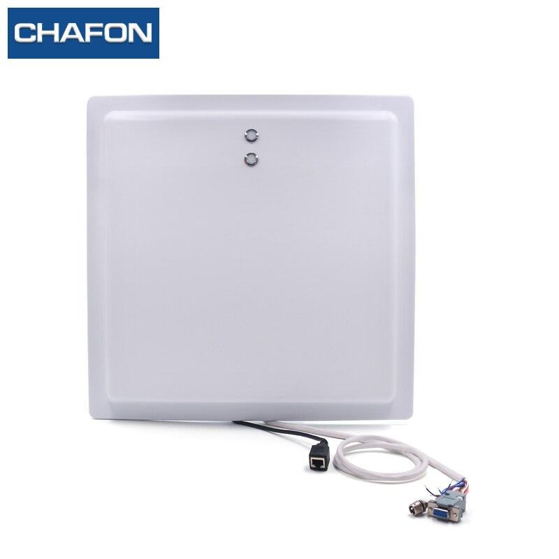 15 m uhf rfid longue portée lecteur IP65 avec TCP/IP/WG26/RS232/RS485 interface LED indicateur utilisé pour la gestion du stationnement