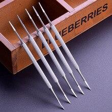Атласная окантовка для вросших пальцев ног двусторонняя педикюрная пилка для ногтей из нержавеющей стали
