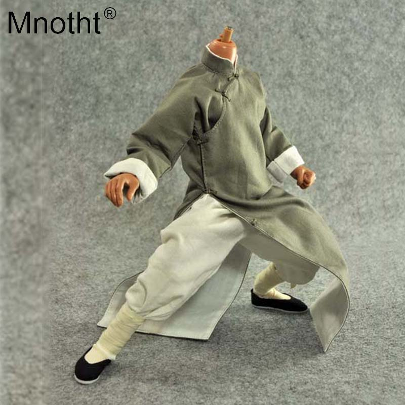 Mnotht Model 1:6 Ye Wen Gown Kung Fu Coat Suit Huang Feihong Black/Brown Styles Clothes Toys For 12'' Soldier Action Figure ma mnotht 1 6 action figure panzer third