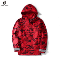 RED Camouflage Pullovers Bomber Jacket 2018 New Fashion Lovers Hip hop windbreaker jacket Masculina Hooded Mens Jackets and Coat