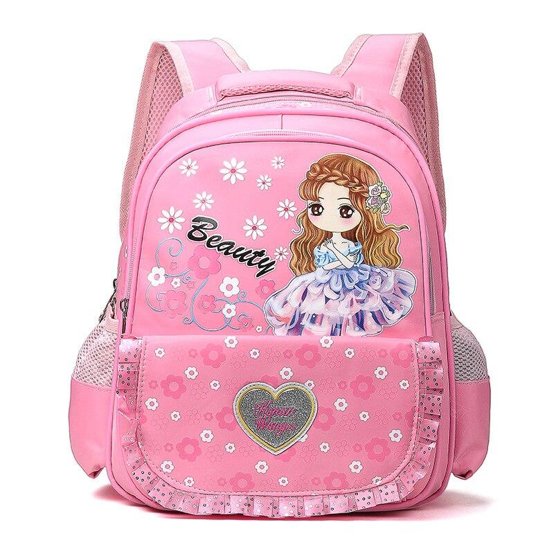 1-3 Grade Cute Girls Lace Edge School Bag 2017 New Fashion Princess Children Backpack Kid School Bags for Girl Mochila Infantil