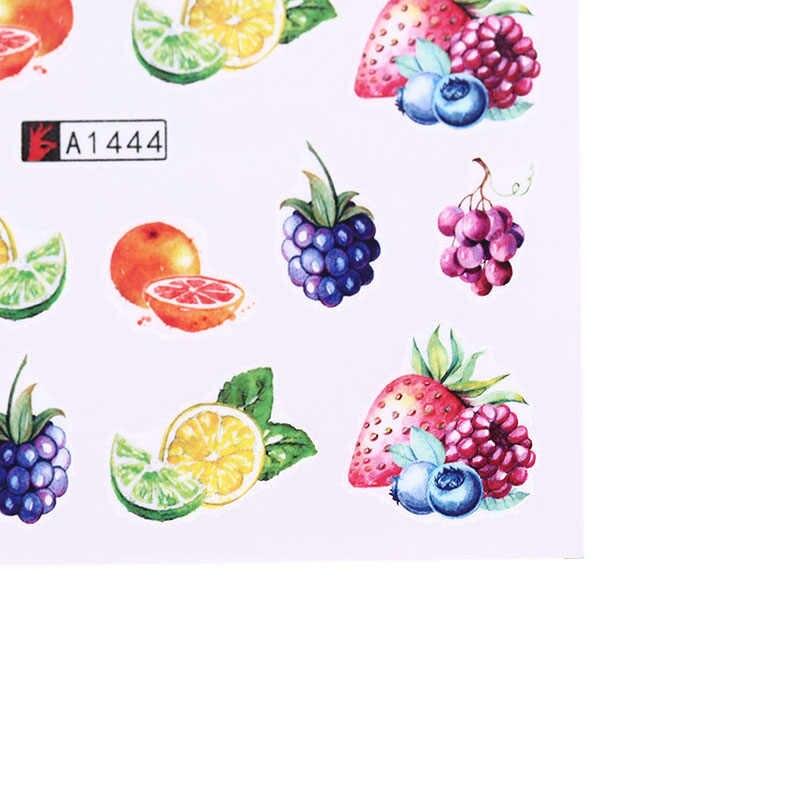 12Pcs DIY צבע קעקוע טיפ דקור מעורב פירות העברת מדבקות יופי קישוט עיצובים
