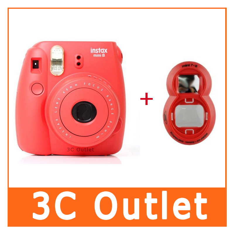 ФОТО Fujifilm Instax Mini8 Film Camera + Close-up Lens (2 In 1 Red Set)