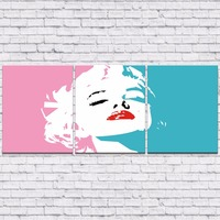 Canvas Painting New 3 Pieces Sets Canvas Art Marilyn Monroe Canvas Wall Art Painting Decoration For